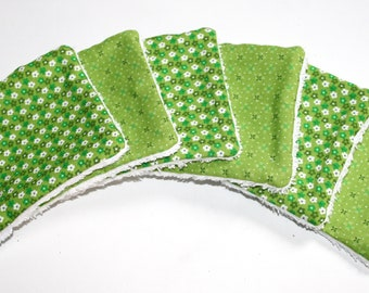 6 Makeup removers, Organic cotton wipes, Reusable wipes, organic baby washcloths