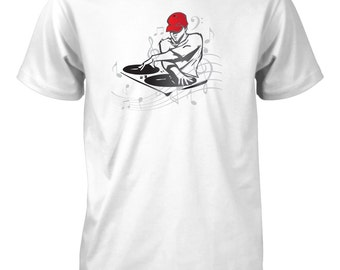 DJ Turntable Music T-Shirt for Men