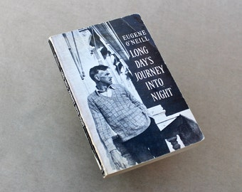 Vintage paperback Long Days Journey Into Night Eugene ONeill Play Book Great book cover Black White Display Book black white gray