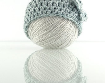 3-6 months Beanie - Light Blue Hat - Winter Fall Bonnet - Powder Blue Skullcap - Gift for a Girl - Baby Shower Gift - Soft Wool Beanie