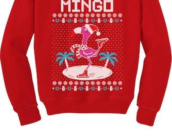 Fa La La Flamingo Ugly Christmas Sweater Funny Xmas T-Shirt