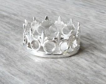 Tiara ring • Silver Crown ring • Queen ring • Sterling silver ring • Princess ring • Thumb ring