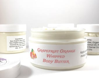 Grapefruit Whipped Body Butter Shea Body Butter Orange Body Butter Just Because Gift Citrus Lotion Whipped Mango Butter Birthday Gift