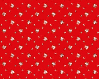 Vintage Red Floral Fabric from A Little Sweetness by Tasha Noel for Riley Blake Fabrics
