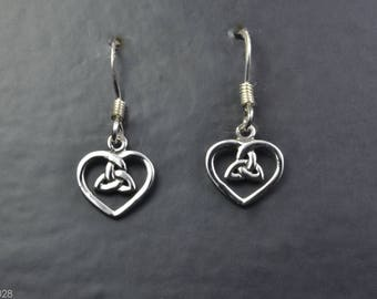 Celtic Design Sterling Silver Earrings with a Trinity Knot