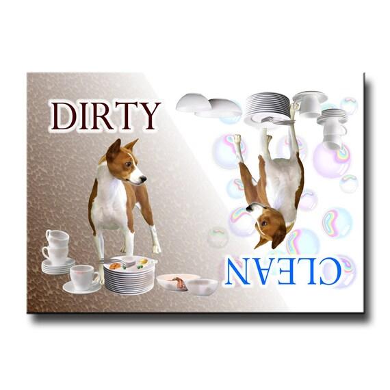 Basenji Clean Dirty Dishwasher Magnet No 1