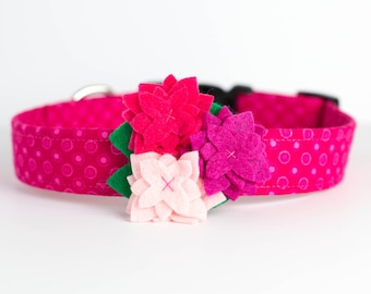 Spring Eastee Pink Dog Collar with Flower - Shades of Pink