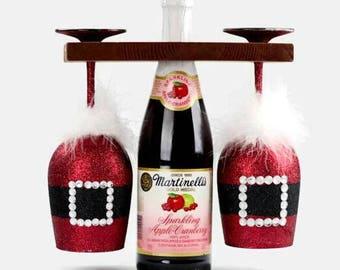 Santa Claus Wine Glasses