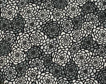 Tissu japonais chrysanthème gris par le demi verge moderne japonaise en Kimono imprimé Floral