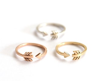 Arrow Ring, Cupid Ring, Silver Ring, Gold Ring, Stacking Ring, Gift for Her, Jewellery, Handmade Ring, Rose Gold Ring, Metal Choice, Rings