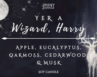 Yer a Wizard Harry Soy Candle