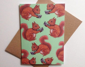 Squirrel Photographer Greeting Card