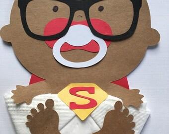 Superman African American Baby Boy Baby Shower Napkins Baby Shower Decor Baby Shower Favors Baby Boy Shower Napkins Gender Reveal Napkins