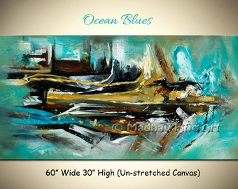 Large abstract painting, Painting on canvas, Wall art, Abstract canvas art, Original painting, Size 60'' x 30''