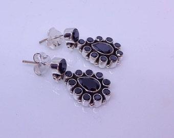 Black onyx set in sterling silver makes a beautiful set of earrings.