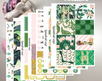 "Erin Condren and Happy Planner Sticker Kit - ""Sunkissed"" - Summer Planner Stickers - May"