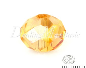 100Pcs 4.7x6mm Sunflower AB Rondelle Crystal Beads Center Drilled DIY Jewelry CR0378-52