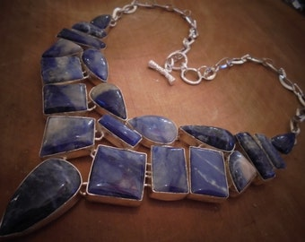 sodalite sterling silver necklace.