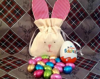 Easter Bunny Bag with Chocolate