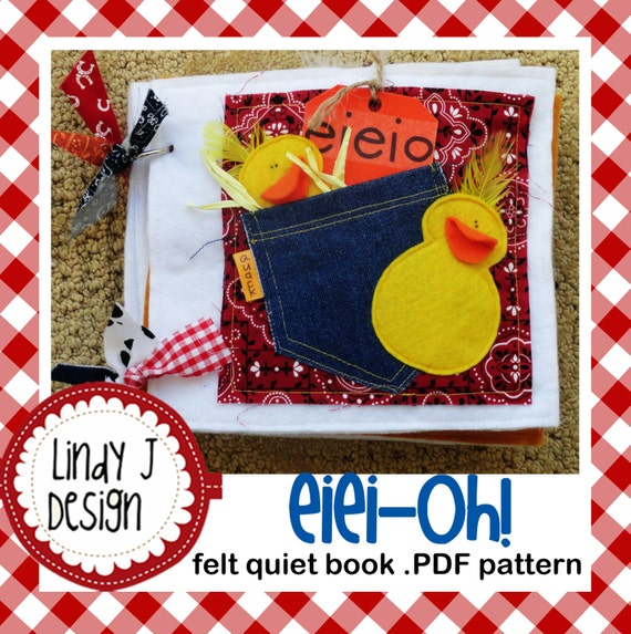 Quiet Book Cover Pattern : Eiei oh felt quiet book pdf pattern