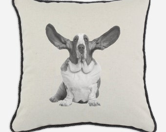 Basset Hound Dog Pillow