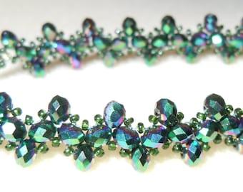 PATTERN Tutorial Triangle weave bracelet traditional design
