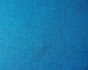 Waterproof fabric - Uniform turquoise linen style