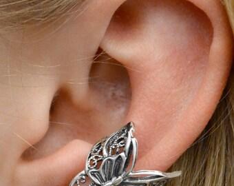 Butterfly Ear Cuff - Sterling Silver or Gold Vermeil - LEFT Ear