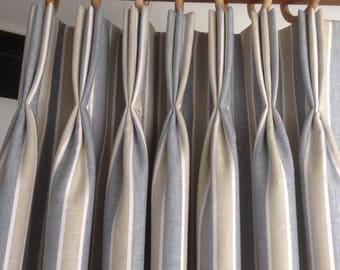 Pinch pleated draperies, Pinch pleated curtains, Pinch pleated panels, pinch pleats, pinch pleated window curtains, pleated curtains, pleats