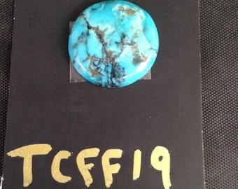 Kingman turquoise/ round/ Cabochon/ blue turquoise/ Arizona turquoise/ 13 carats/ not backed/ TCFF19