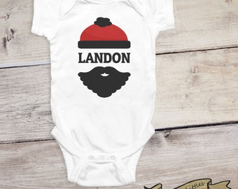 Personalized Baby Gifts for Boy Onesie® Lumberjack Baby Outfit Custom Name Shirt Personalized Onesie®  Boy