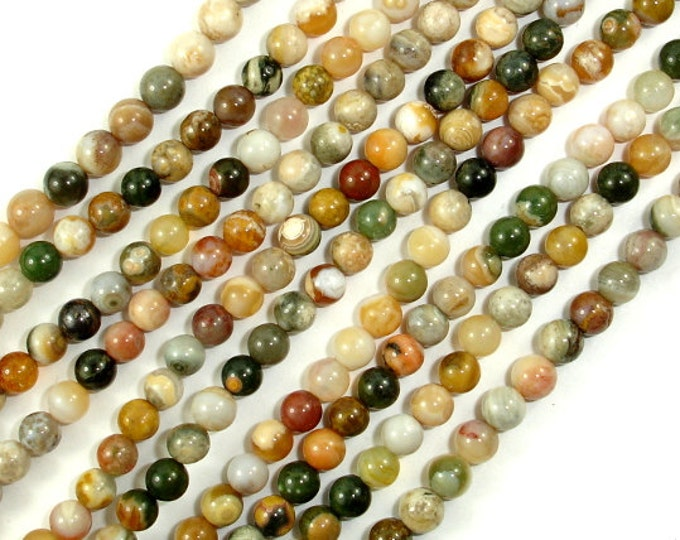 Ocean Jasper, Round 4 mm beads, 15.5 Inch, Full strand, Approx 95 beads, Hole 0.5 mm, A quality (330054013)
