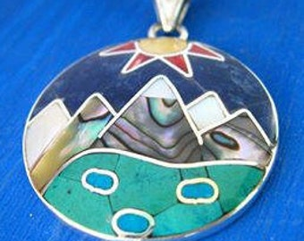 mountains are calling mountains necklace mountain pendant gift for mountain lover i love mountains andes mountain jewelry andes titicaca