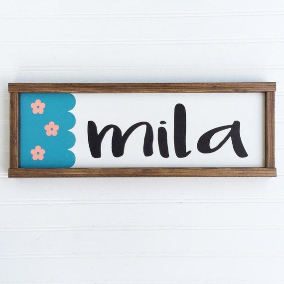 Baby Girl Nursery Name Sign .Peanut Shell Mila . Peanut Shell Gia . Name Sign . Wildflower . Baby GIrl Nursery .Baby Shower .Big Girl Room .