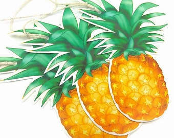 Pineapple Gift Tags. 6 Large Tropical Fruit Gift Tag Labels. Gift Embellishments. Summer Novelty Gift Tags. Fun gift tags. Cool Food Tags