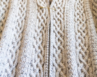 Made to Order Handmade Knitted Celtic Intricate Cabled Oversize Rustic Shawl Wrap