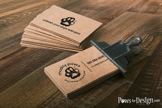 Rustic dog business cards dog walkers dog hikers dog like this item colourmoves