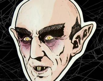 1922 Nosferatu-Vampire Movie Inspired Large Paper Sticker