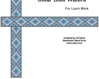 Clear Blue Waters Bead Loom Pattern