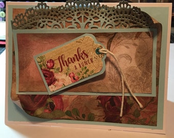 Thank you card for someone who has been there for you.