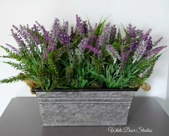 Farmhouse Style Artificial Lavender Centerpiece
