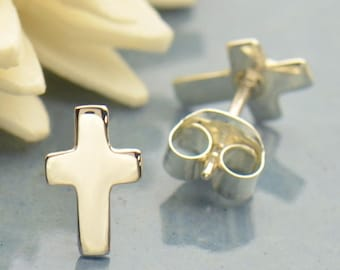 20% OFF SALE! Silver Cross Post Earrings. 323