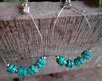 Unique aqua colored stone beads