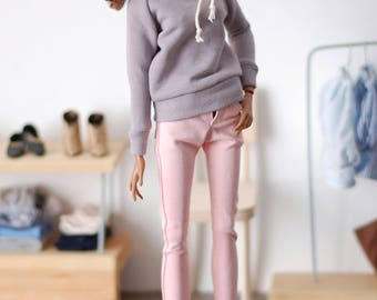 Classic cold gray sweatshirt hoodie for minifee MSD FR16 and other 1/4scale