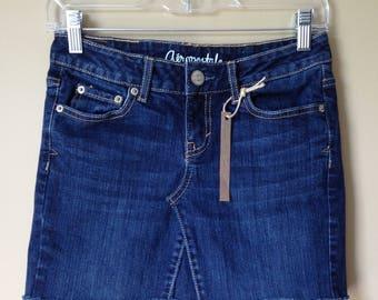 Upcycled Denim - Jean Mini Skirt - Size 0