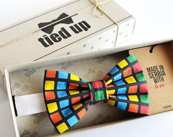 Rubik's Cube Bow tie - Bowtie Bowties, ,  Funny bow tie,Bow tie for men,Bow tie for women,Bow tie for kids.