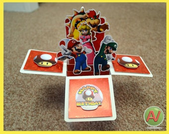 Super Mario 3D Box Card.