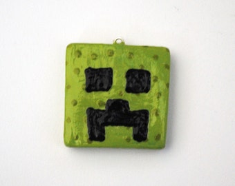 Minecraft Creeper Polymer Clay Mirror Charm