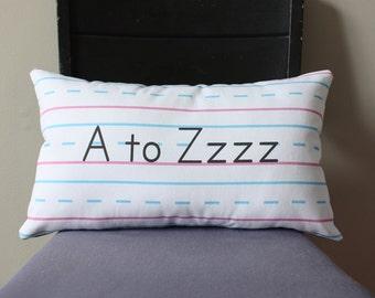 Penmanship Pillow - A to Zzzz