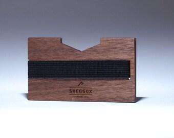 Handmade WOODEN wallet / money clip, modern wallet, slim, minimalist
